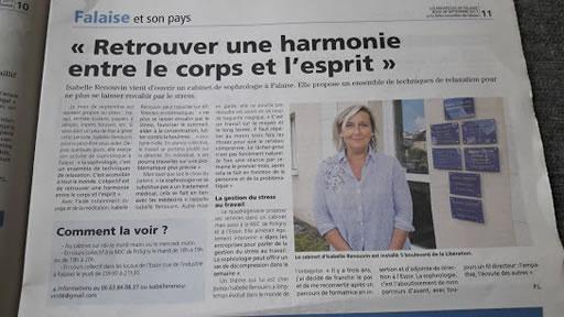 Sophrologue Isabelle RENOUVIN : infos, localisation, contacts... pour ce centre de sophrologie